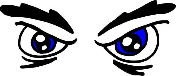600x260 Angry Eyes Clip Art Free Vector In Open Office Drawing Svg ( .svg