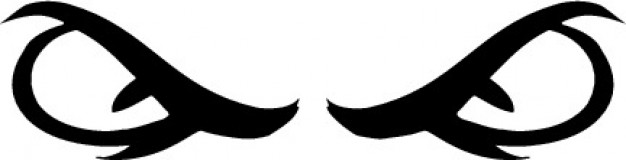 626x160 Angry Bad Eyes Vector Free Download