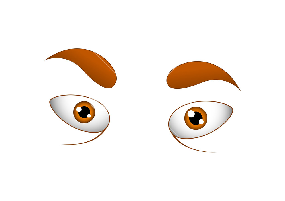 1000x705 Angry Cartoon Eyes Vector Illustration Royalty Free Stock Image