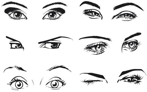 512x320 Woman39s Eyes Vector Free Vector In Coreldraw Cdr ( .cdr ) Vector