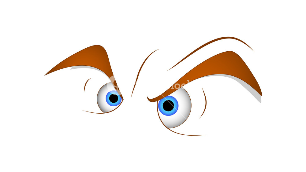 1000x563 Angry Eyes Cartoon Vector Royalty Free Stock Image