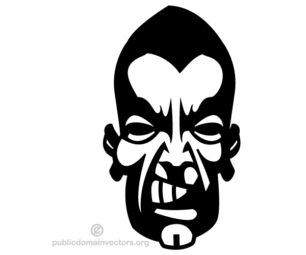 600x500 Angry Man Face Vector Image 123freevectors