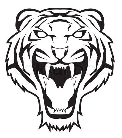 425x480 Angry Tiger Face Vector Art Inspiration Tiger Face