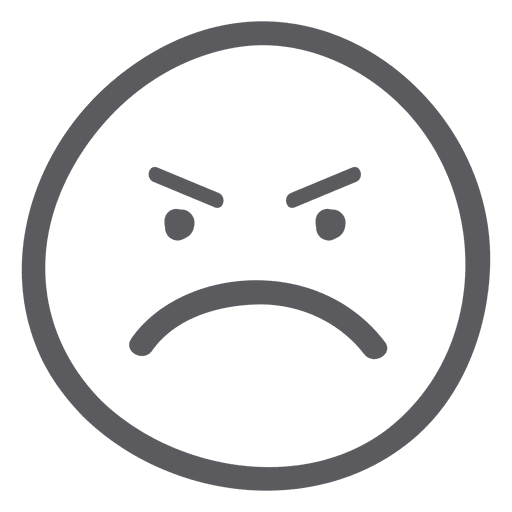 512x512 Angry Face Emoji