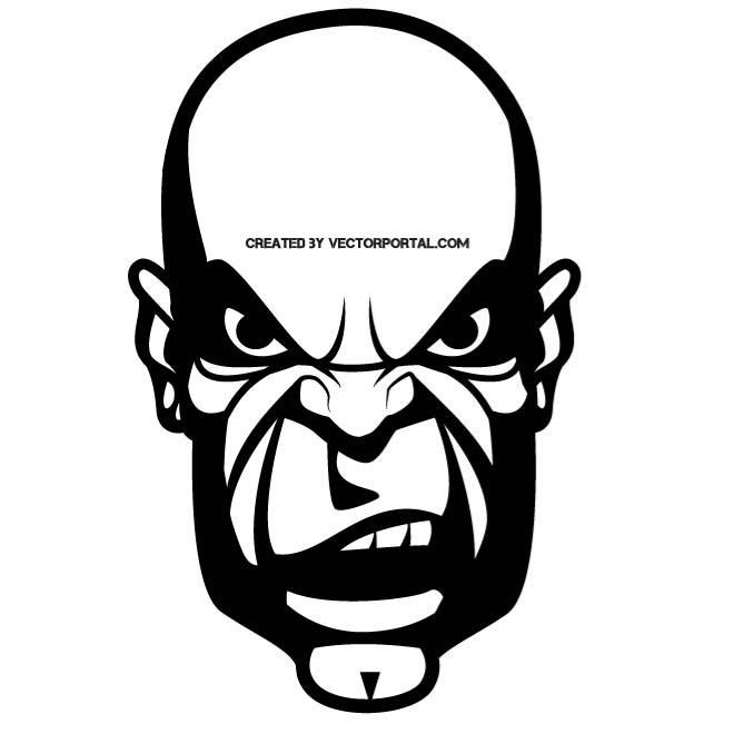 660x660 Angry Face Vector Image. Various Vectors Angry Face