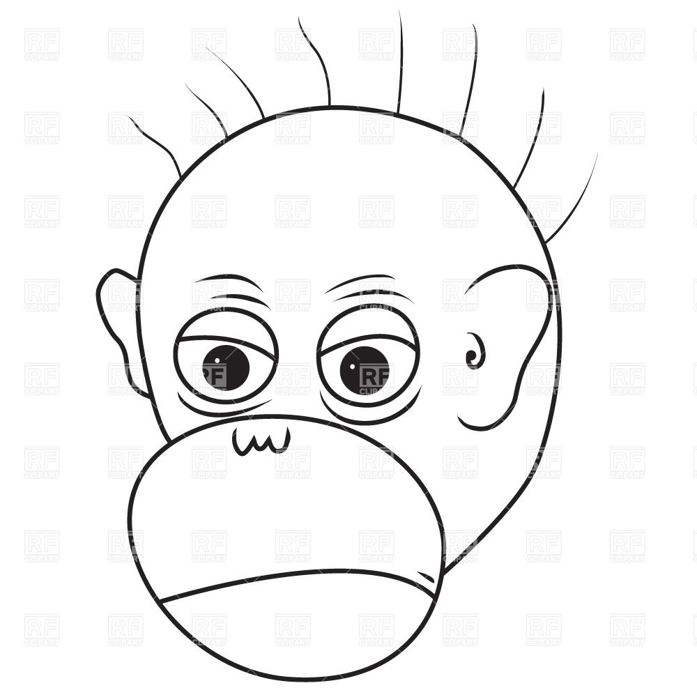 1000x1000 Angry Monkey Face Vector Image Vector Artwork Of Plants And