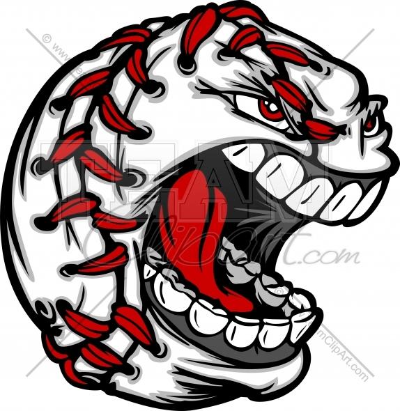 574x590 Baseball Ball Cartoon With Angry Screaming Face Vector Clipart
