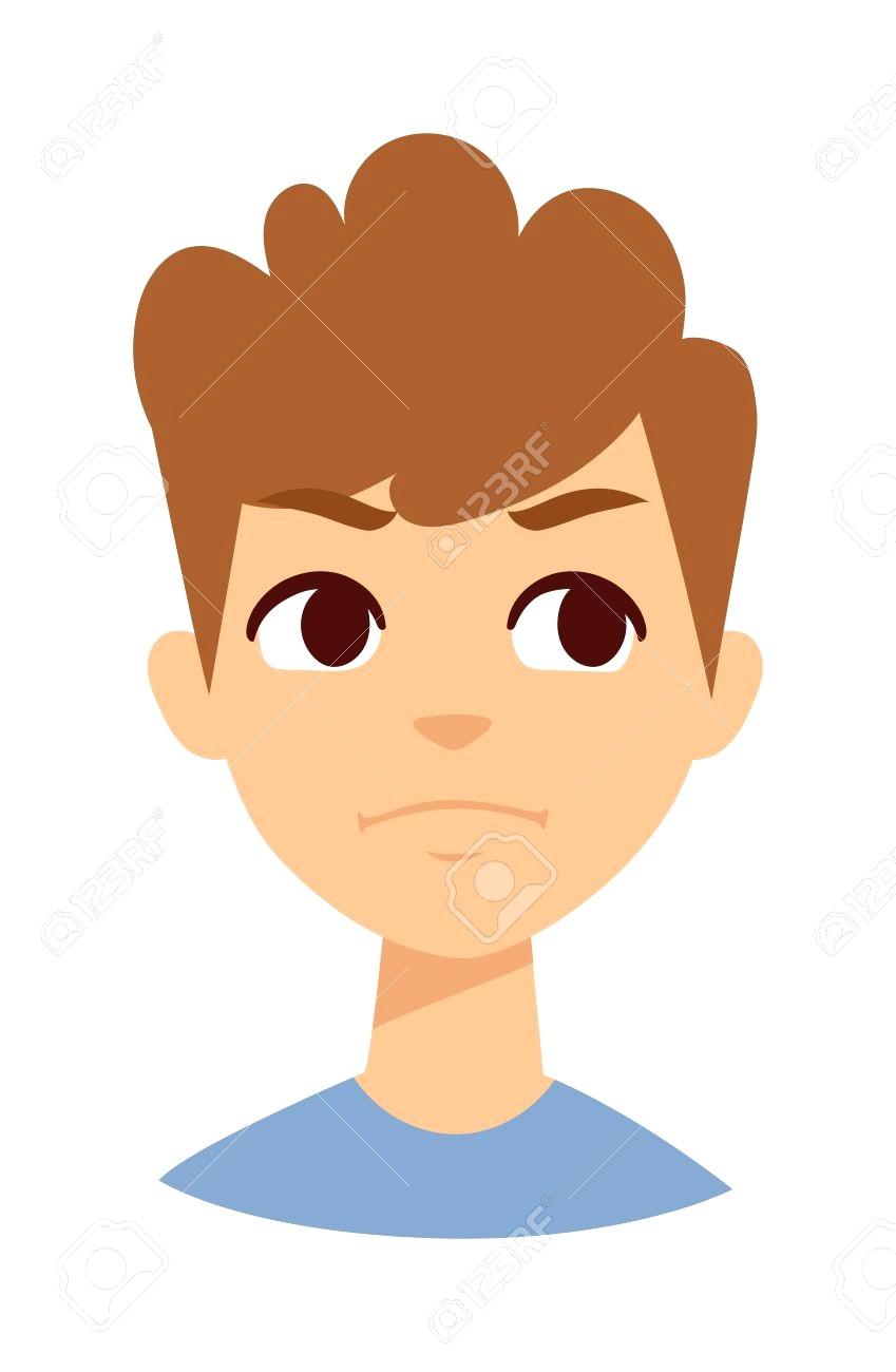 849x1300 57318137 Boy Makes Angry Face Vector And Cute Little Cartoon