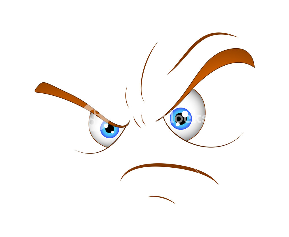 1000x820 Cartoon Angry Face Vector Expression Royalty Free Stock Image