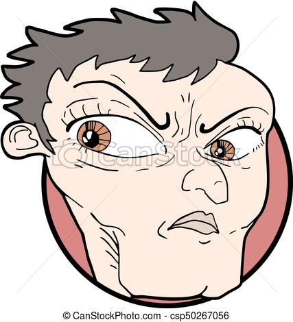 427x470 Creative Design Of Angry Face Clipart Vector