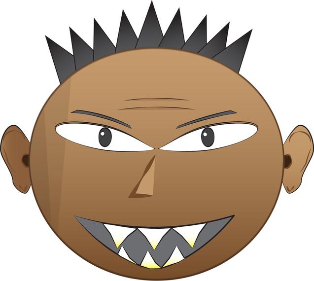 637x570 Emo Punk Angry Face Vectors