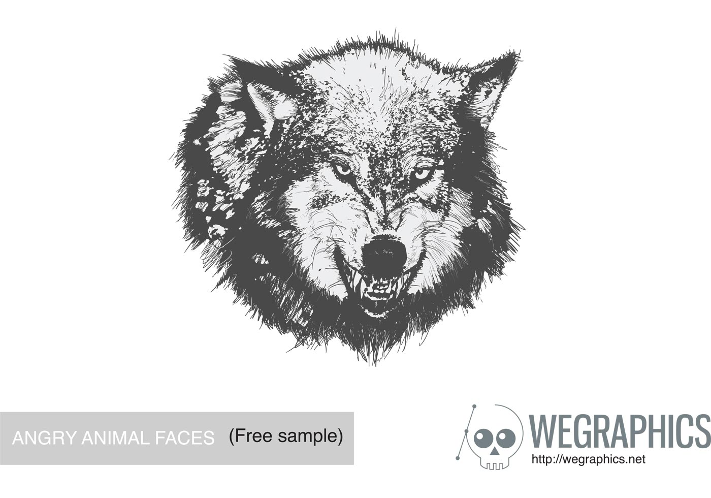 1400x980 Angry Face Free Vector Art