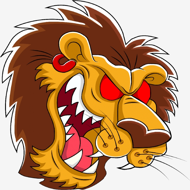640x640 Angry Lion, Design, Vector, Png Png And Vector For Free Download