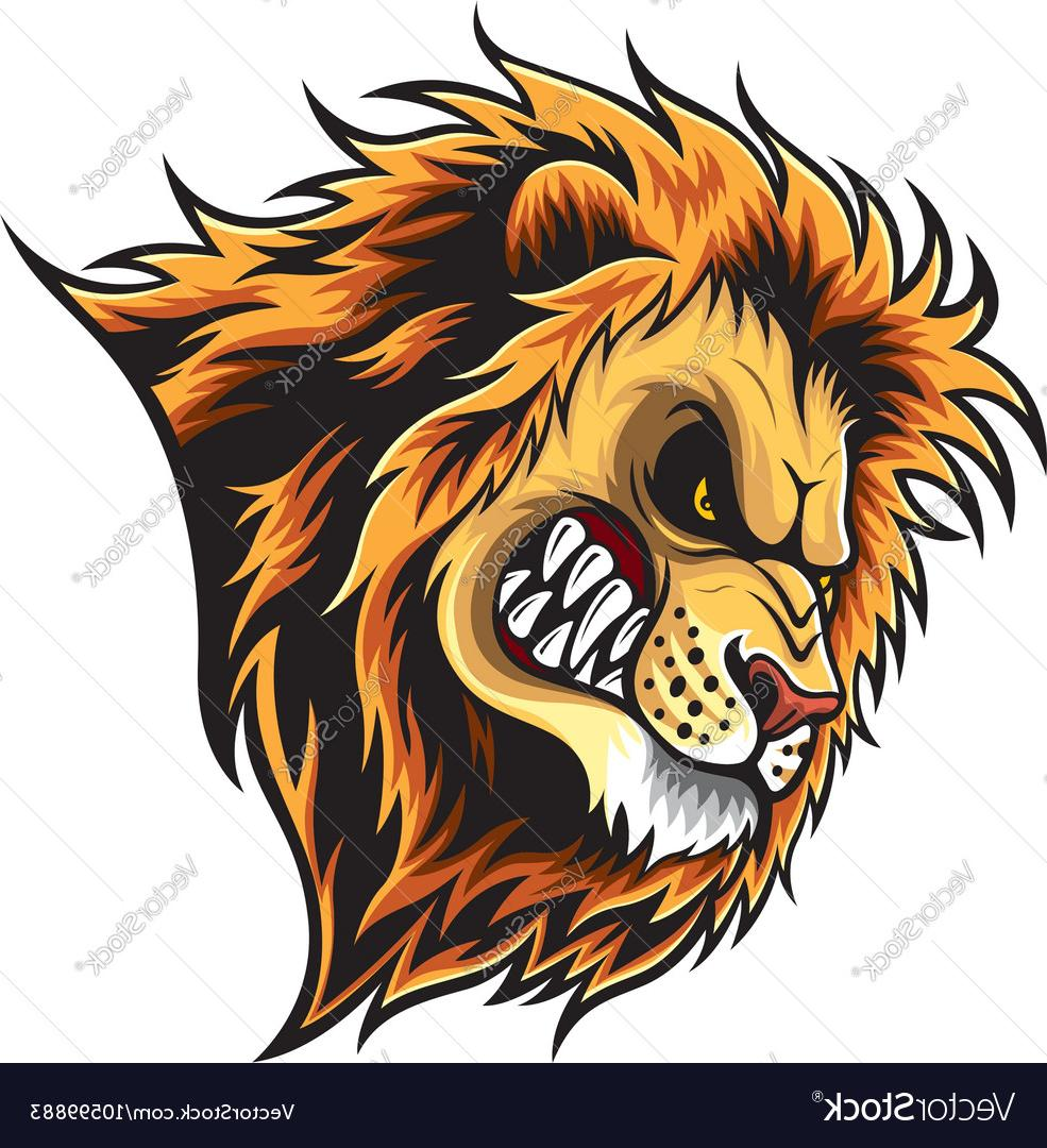 985x1080 Best Angry Lion Head Vector Design