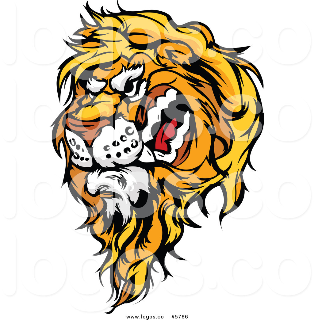 1024x1044 Royalty Free Vector Of A Logo Of A Snarling Angry Lion Head By