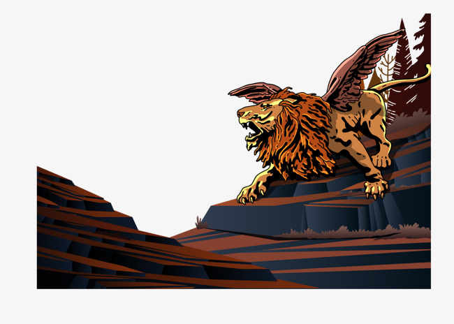 650x464 Vector Winged Lion, Lion Vector, Lion Clipart, Angry Lion Png And