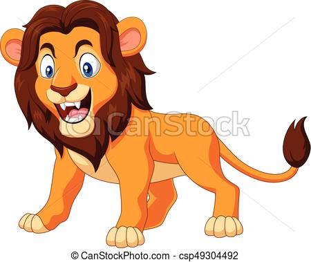 450x379 Vector Illustration Of Cartoon Angry Lion Isolated On White