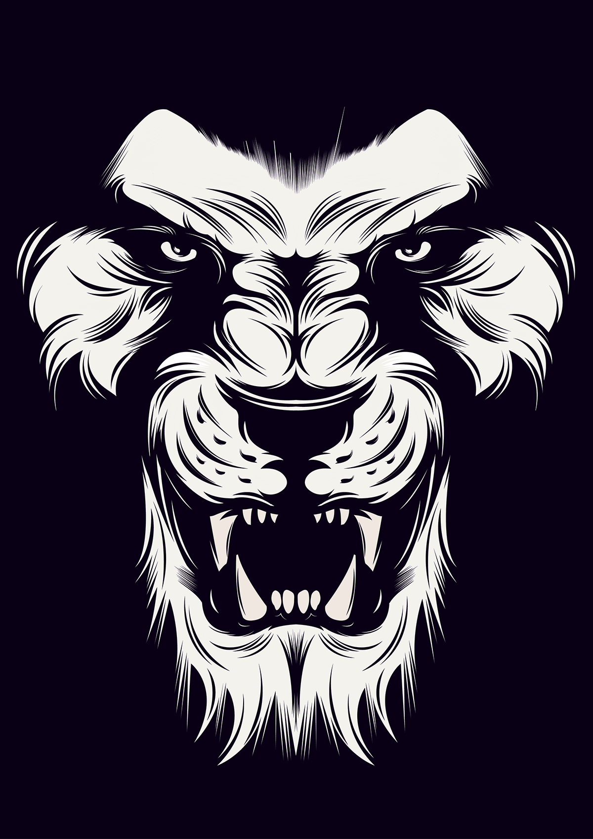 1200x1697 Angry Lion Vector On Behance Ideas In 2018 Lion