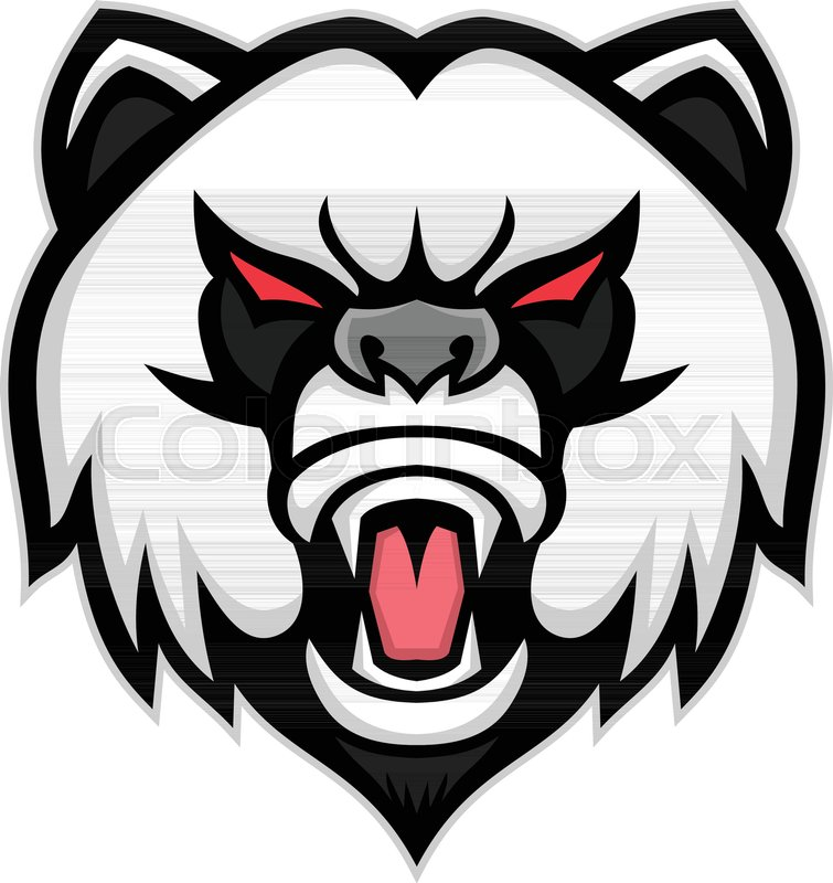 755x800 Mascot Icon Illustration Of Head Of An Angry Giant Panda Or Panda