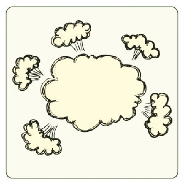 626x626 Angry Cloud Vector