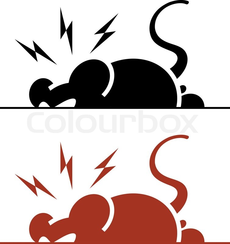 754x800 Vector Icon Of Angry Rat On White Background Stock Vector