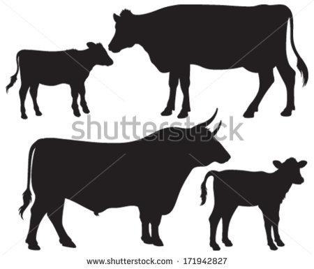 450x385 Black Angus Calf Vector Clipart