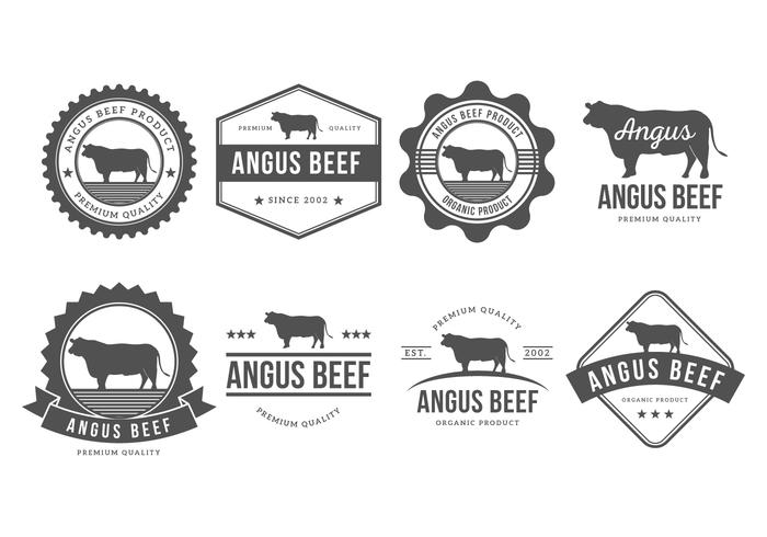 700x490 Free Angus Badges Vector Collection