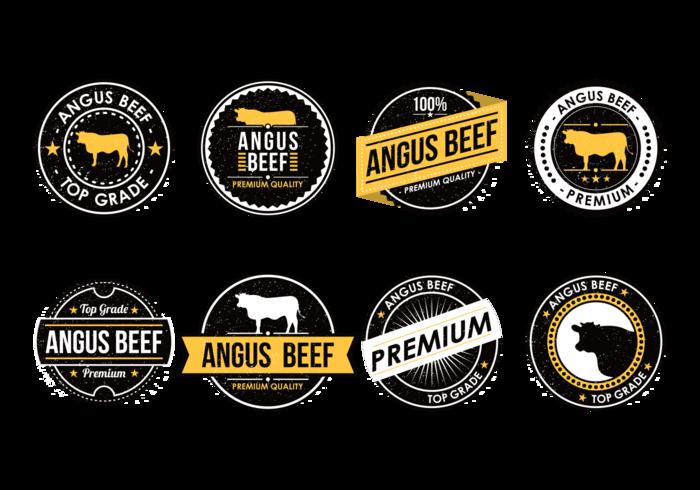 700x490 Angus Beef Labels Vector