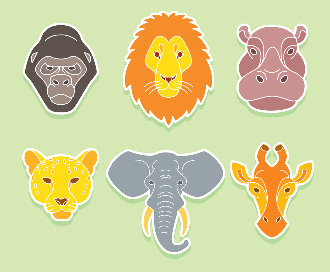 1136x936 Africa Animal Face Vector Vector Art Amp Graphics