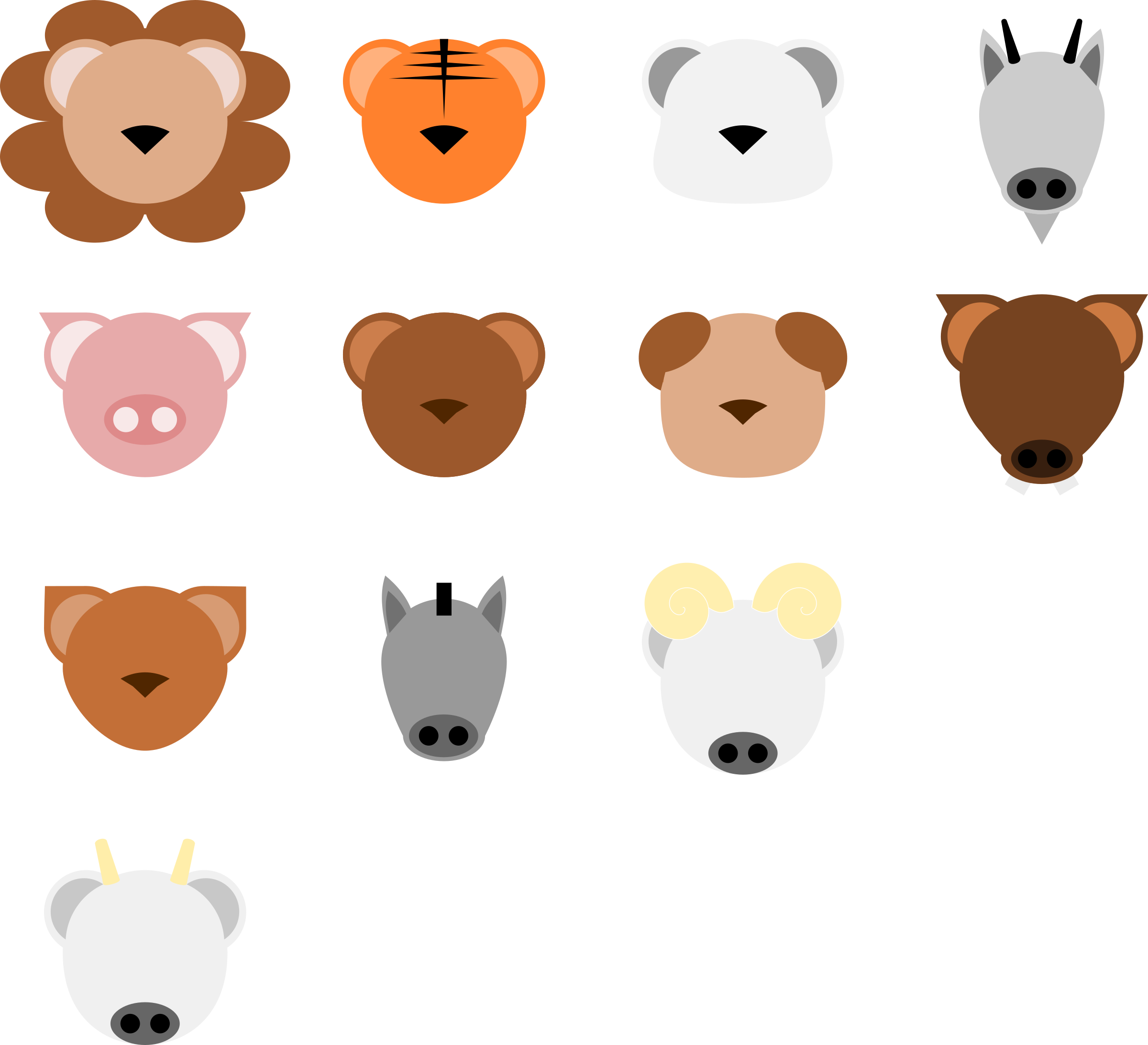 2400x2185 Collection Of Free Vector Animal Minimalist. Download On Ubisafe