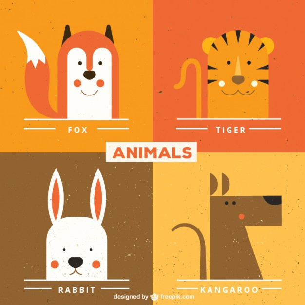 626x626 Cute Animal Faces Vector Free Download