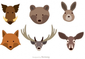 285x200 Animal Faces Free Vector Graphic Art Free Download (Found 11,251