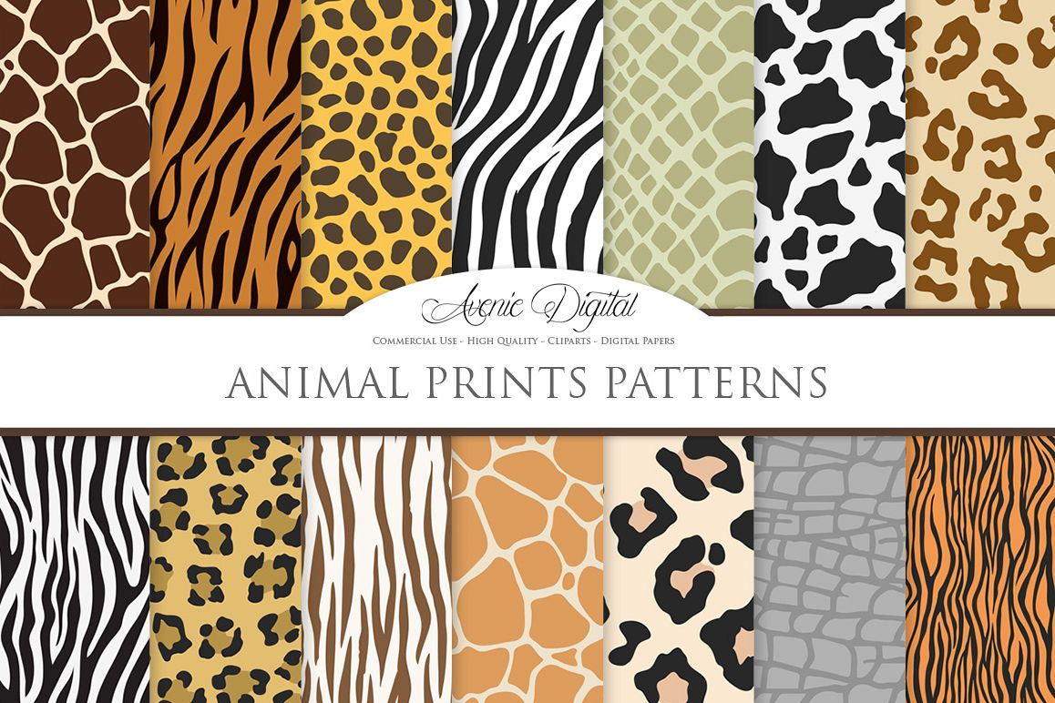 1158x772 Animal Print Vector Patterns