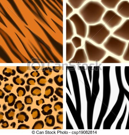 450x470 Animal Print Seamless Patterns. A Set Of Detailed Animal Print