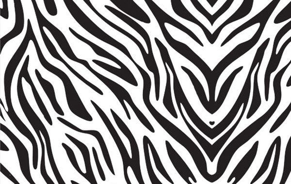 600x380 Zebra Print Pattern Vector Silhouette Designsprojects