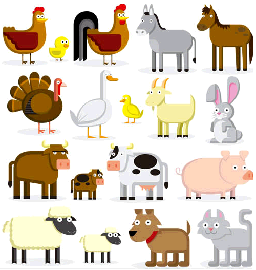 500x527 Animals On The Farm Free Vector Ai Format Free Vector Download