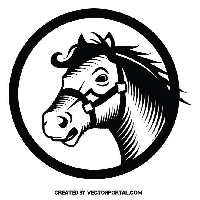 660x660 Horse Stencil Vector Art Loshad Vector Mono Vector