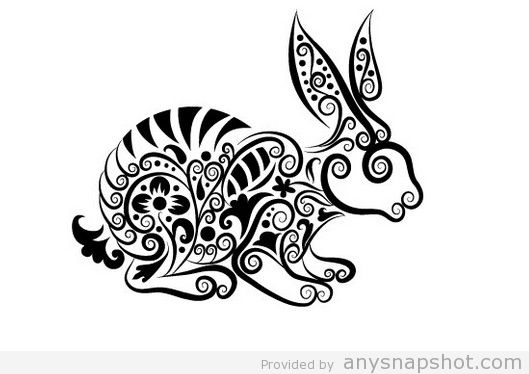 529x374 Rabbit Clip Art Line Art Free Vector Animal