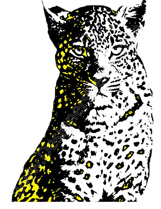 612x792 V11 Free Animal Clip Art Leopard Vector Graphic