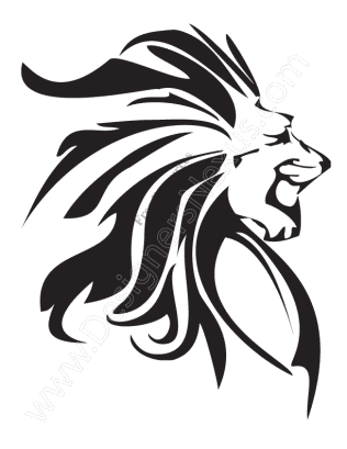 316x409 V12 Free Animal Vector Graphics Lion Clip Art Stencil