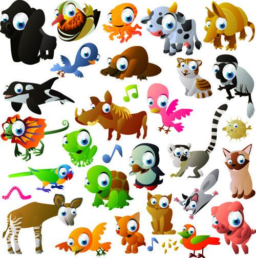 500x503 Vivid Cartoon Animals Vector Free Vector In Encapsulated