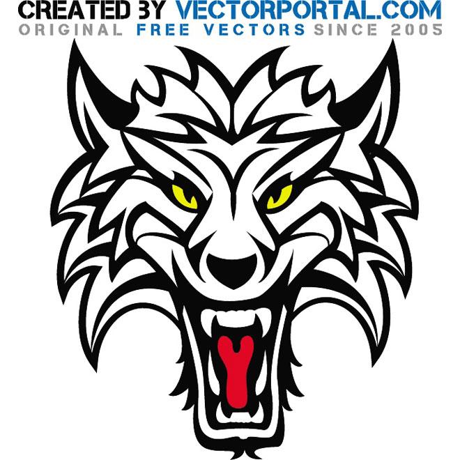 660x660 Wolf Animal Vector Art