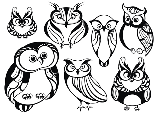 500x368 Lovely Animals Vector Silhouettes 02 Free Download