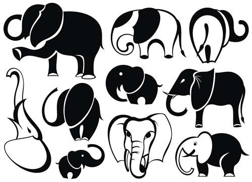 500x362 Lovely Animals Vector Silhouettes 03 Free Download