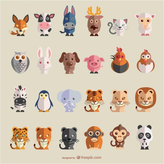 626x626 Cartoon Animals Vectors Download Free Vector Art Amp Graphics