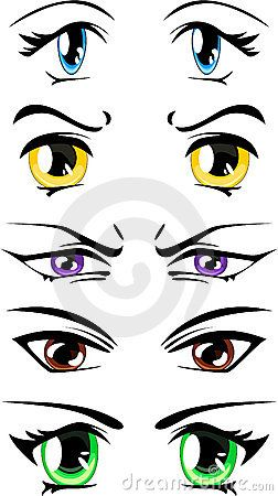 252x450 Cartoon Eyes Vector Tutorials Cartoon, Eye And Manga