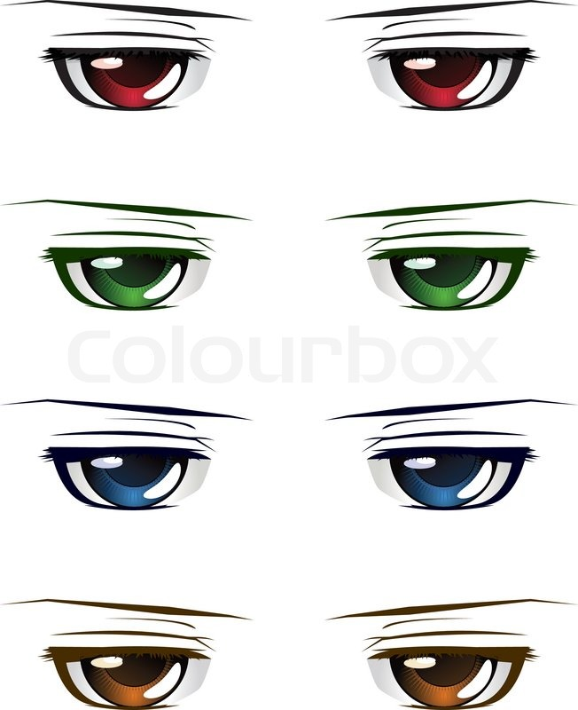 652x800 Colorful Male Eyes Stock Vector Colourbox