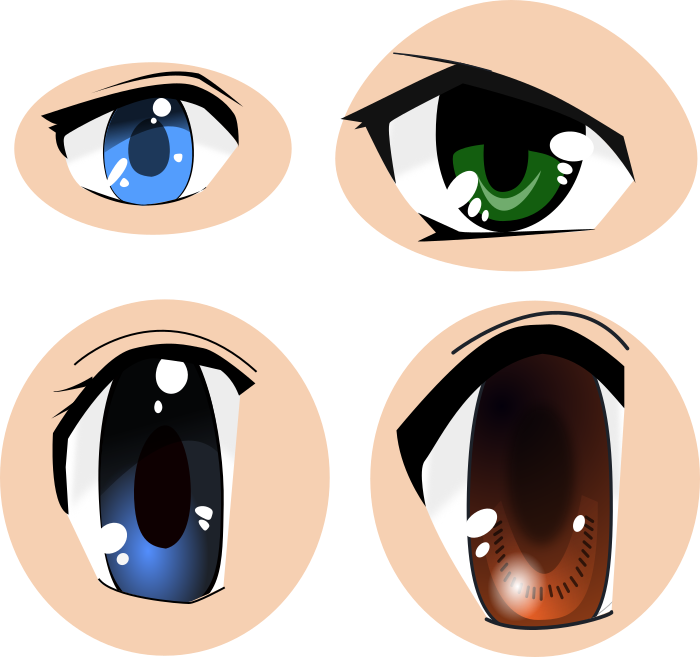 700x657 Computer Art Club Anime Eyes Svg Vector Image