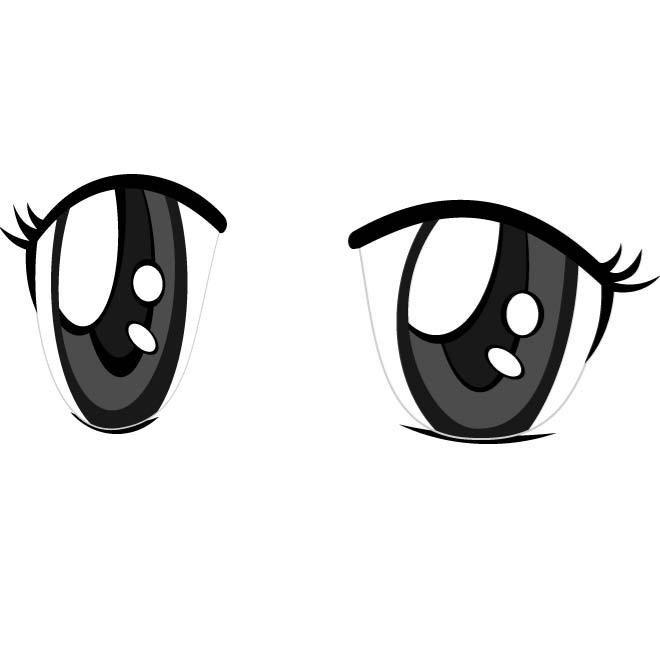 660x660 Free Anime Eyes Vector Image.eps Psd Files, Vectors Amp Graphics