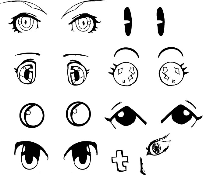 666x573 Asodcliclof Anime Eyes Drawing